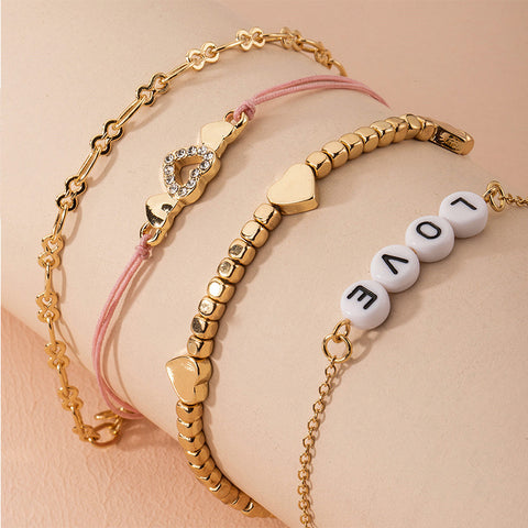 Love Is Gold 4 Part Women Stylish Bracelet