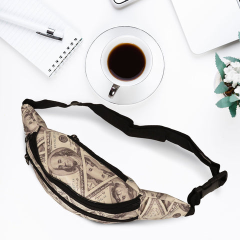 Trendy Fanny Pack with Money Print