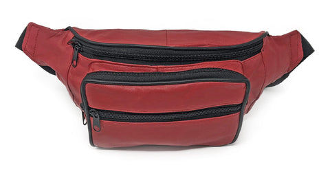 AFONiE Colorful Leather Waist Pouch