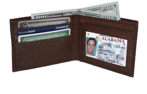 Genuine Leather Bi-fold with Removable Compartment - Brown - WholesaleLeatherSupplier.com  - 2