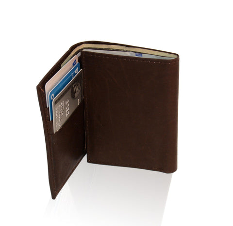 Deluxe Genuine Leather Tri-fold Wallet For Men - Brown - WholesaleLeatherSupplier.com  - 3