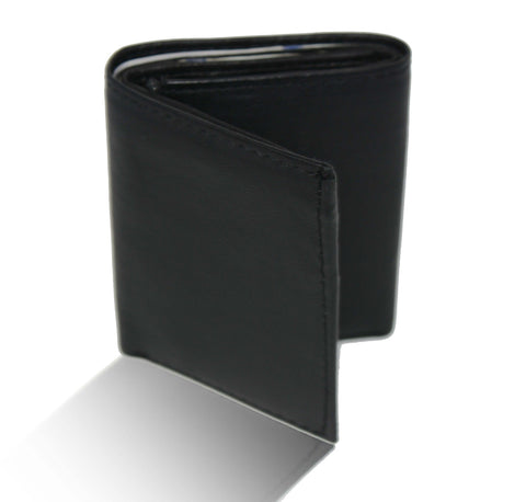 Deluxe Genuine Leather Tri-fold Wallet For Men - Brown - WholesaleLeatherSupplier.com