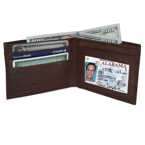 Genuine Leather Bifold - Brown