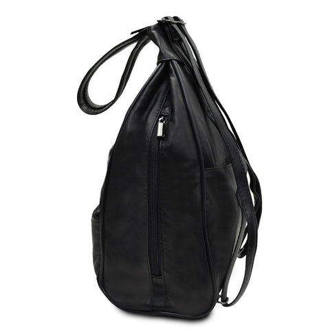 Sling Multi Pockets Lather Backpack