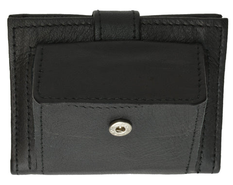 Genuine Leather Secure Snap Enclosure Wallet