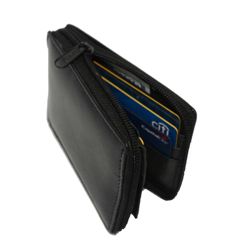 Genuine Leather Bifold Wallet Zippered - Brown - WholesaleLeatherSupplier.com  - 5
