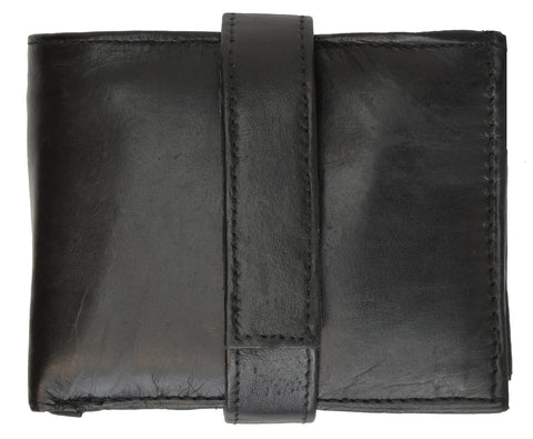 Genuine Leather Bifold Wallet For Men - Black