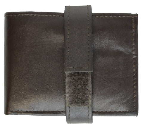 Genuine Leather Bifold Wallet For Men - Brown
