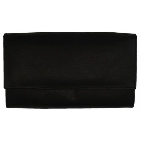 Snap enclosure Leather Women Wallet