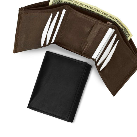Leather Wallet With Removable ID Pocket