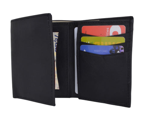 AFONiE Leather Trifold Men Wallet