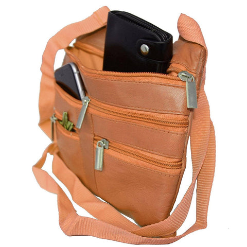 Genuine Leather Crossbody Mini Purse Organizer Travel Handcrafted Bag - Green - WholesaleLeatherSupplier.com  - 10