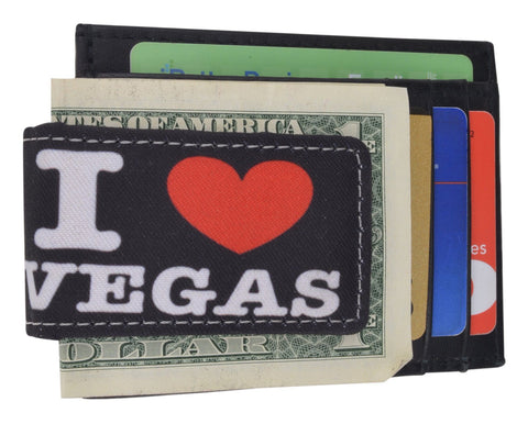 Vegas Lover Leather Money Clip
