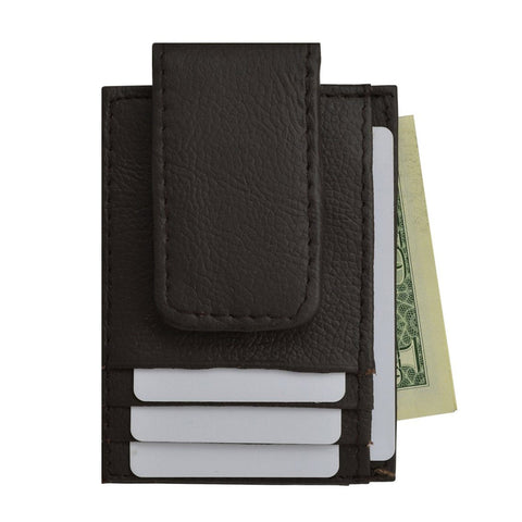 AFONiE Genuine Leather Magnetic Money Clip