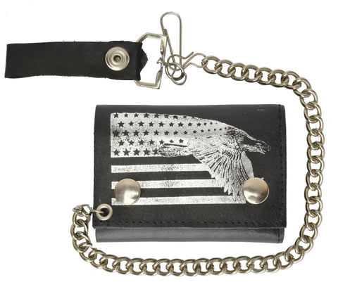 Leather Chain Wallet USA Eagle