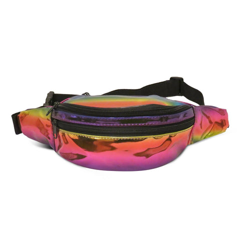 Waist PouchColorful Holographic Fashion Bag