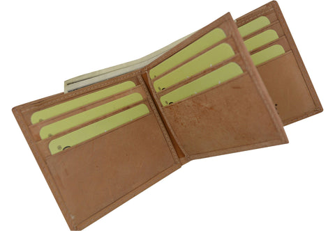 Premium Leather Fixed Center Flap Wallet