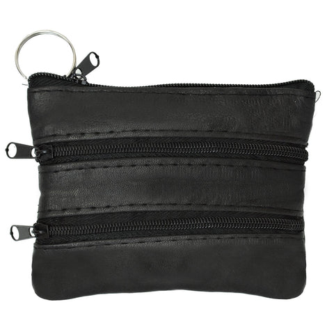 Coin Leather Wallet-Black Color