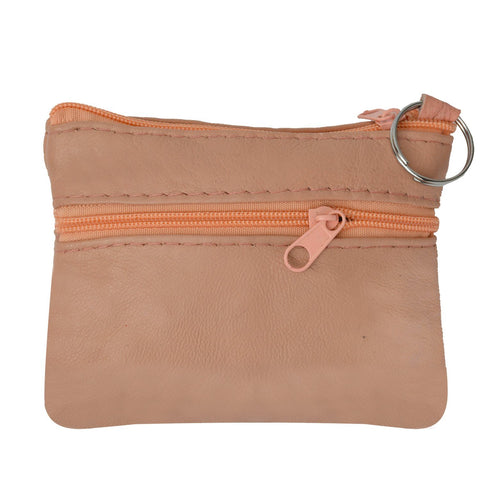 Coin Leather Wallet-Pink Color