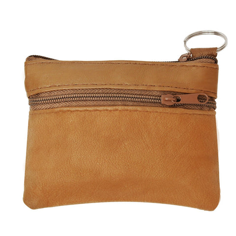 Coin Leather Wallet-Tan Color