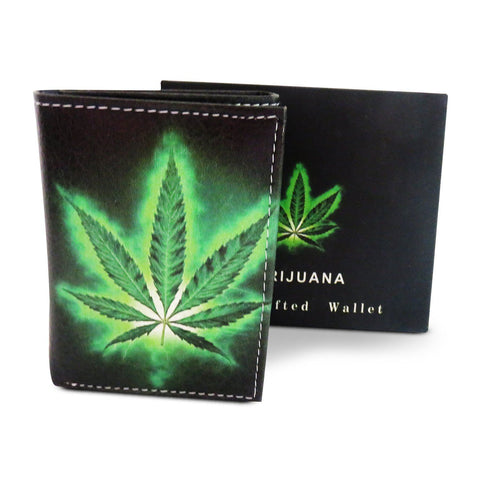 Handcrafted Trifold Graphic Leather Wallet