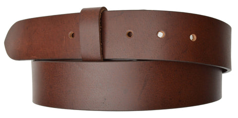 "Removable Snap Buckle Belt Wide 1.5"" High Quality Leather - WholesaleLeatherSupplier.com  - 6"