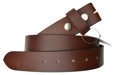 "Removable Snap Buckle Belt Wide 1.5"" High Quality Leather"