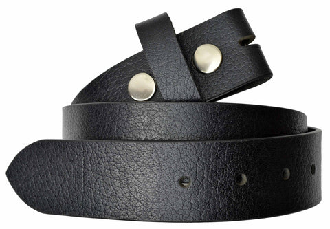 AFONiE Snap On Buckle Leather Belt
