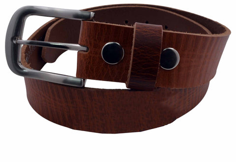 AFONiE Cowhide Leather Snap On Buckle Belt