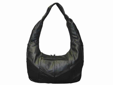 Large Top Zip Hobo Genuine Leather Red Color - WholesaleLeatherSupplier.com  - 2