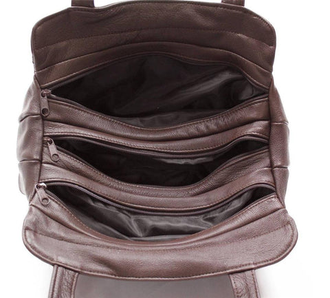 3 Compartments Tote Soft Leather Bag - 8 Colors - WholesaleLeatherSupplier.com  - 22