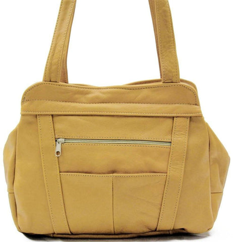 3 Compartments Tote Soft Leather Bag - 8 Colors - WholesaleLeatherSupplier.com  - 8