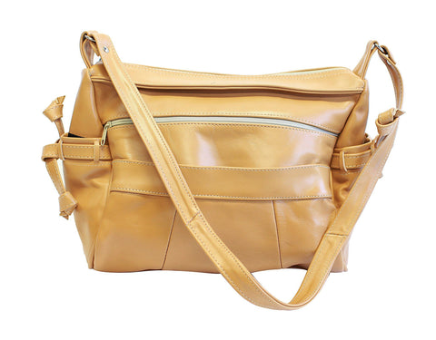 Luxuries Genuine Leather Shoulder Bag Handbags WholesaleLeatherSupplier.com Tan