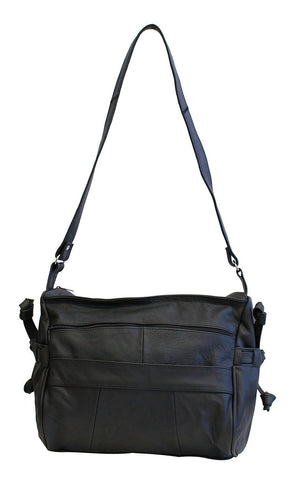 Luxuries Genuine Leather Shoulder Bag Handbags WholesaleLeatherSupplier.com Black