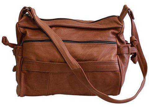 Luxuries Genuine Leather Shoulder Bag Handbags WholesaleLeatherSupplier.com Brown