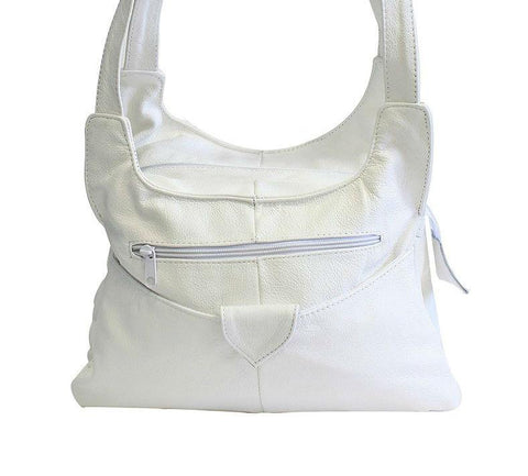 Shoulder Leather Handbag Handbags WholesaleLeatherSupplier.com White