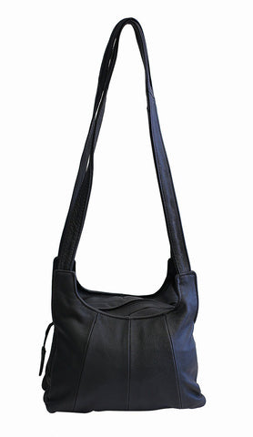 Shoulder Leather Handbag Black Color