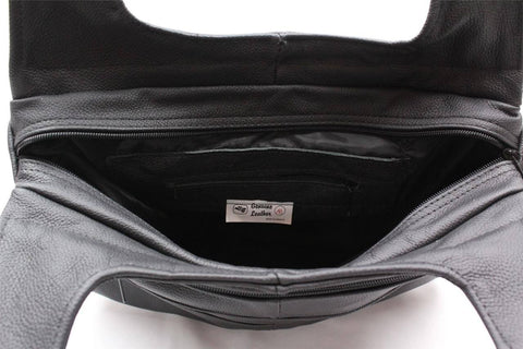 Hobo Leather Bag - Black - WholesaleLeatherSupplier.com  - 15