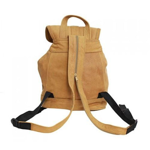 Genuine Leather Backpack with Convertible Strap Super Soft Leather Tan Color - WholesaleLeatherSupplier.com  - 3