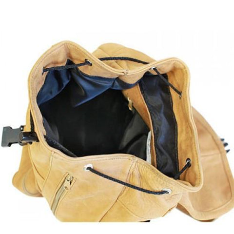 Genuine Leather Backpack with Convertible Strap Super Soft Leather Brown Color - WholesaleLeatherSupplier.com  - 3