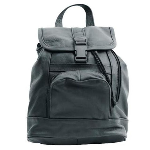 Genuine Leather Backpack with Convertible Strap Super Soft Leather Brown Color - WholesaleLeatherSupplier.com  - 8
