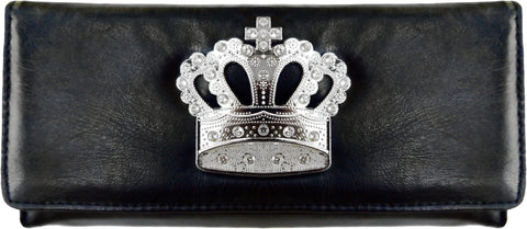 Super Soft Feel Women Crown Wallet - WholesaleLeatherSupplier.com  - 3