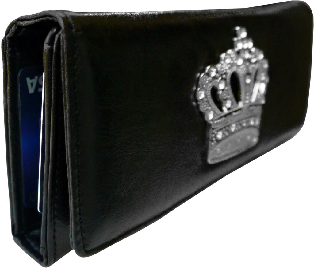 Super Soft Feel Women Crown Wallet - WholesaleLeatherSupplier.com  - 4