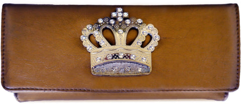 Super Soft Feel Women Crown Wallet - WholesaleLeatherSupplier.com  - 7