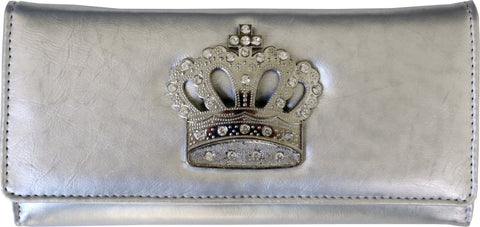 Super Soft Feel Women Crown Wallet - WholesaleLeatherSupplier.com  - 8