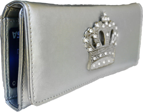 Super Soft Feel Women Crown Wallet - WholesaleLeatherSupplier.com  - 9