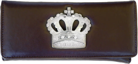 Super Soft Feel Women Crown Wallet - WholesaleLeatherSupplier.com  - 13