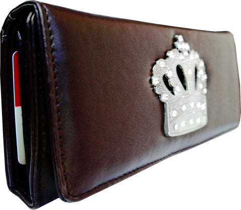 Super Soft Feel Women Crown Wallet - WholesaleLeatherSupplier.com  - 14