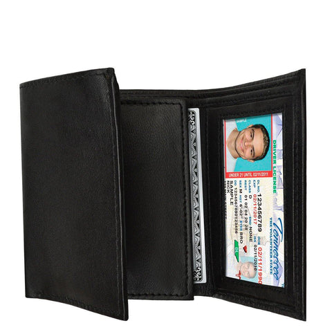 Working Man's Premium Leather Tri-Fold Wallet