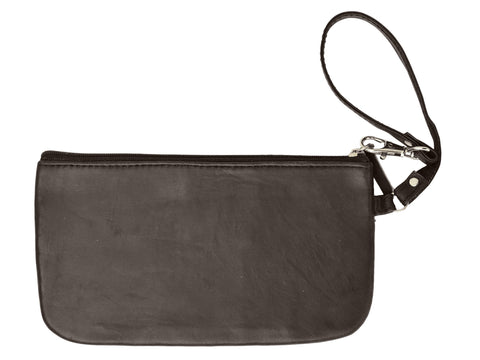 RFID Collection Soft Side Wristlet Brown Color